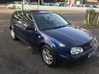 2000 Automatic VW Golf in blue with 3 mo warranty