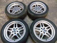 """GENUINE BMW 5 SERIES PARALLEL 18"""" STAGGERED STYLE 37 ALLOY WHEELS WITH TYRES"""