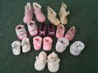 Girls Baby Shoes - 9 Pairs