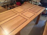 Solid oak dinning room table
