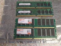 4 x Desktop Computer Memory Cards
