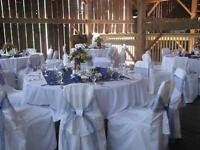 CHAIR COVERS, NAPKIN AND TABLE CLOTH RENTALS