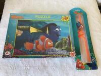 Finding Nemo Jigsaw Puzzle and Straw