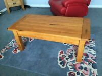 Solid Coffee Table With Small Drawer