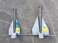 2 x Danforth anchors