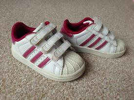Baby Girl Adidas Trainers size 5 Infant