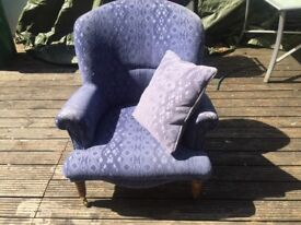 Laura Ashley style chair with cushion