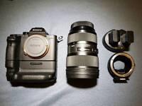 Sony a7rii w/sigma 24-35 Art lens / metabones adapter to ef