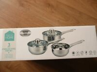 PAN SET NEW IN BOX 3 PIECE