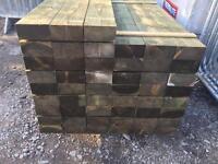 🌈Pressure Treated Mini Wooden Railway Sleepers