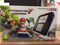 Brand new Nintendo 2DS with mario kart 7