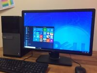 "GAMING PC DELL 790 Windows 10 - i5 3.30Ghz, 8GB, GeForce GT620, 1TB HDD + 22"" Monitor PC"