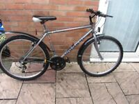 mens mountain bike 18 speed 18 inch frame £45.00