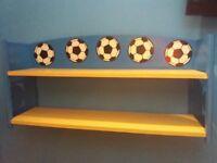 Football decal shelf