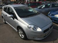 2007/07 FIAT GRAND PUNTO 1.4 ACTIVE SPORT3 DOOR,SILVER,LOW MILEAGE,GREAT LOOKS+DRIVES REALLY WELL