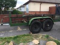Heavy duty twin axle trailer