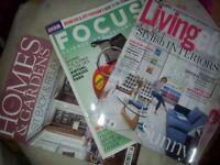 Homes & Gardens Living etc, BBC Focus