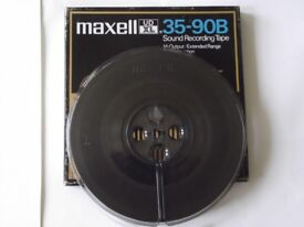 Maxell UDXL 35-90B 7 inch 1800ft reel-to-reel tape - back-coated, high output, extended range