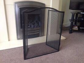 Sturdy fire screen for open fire
