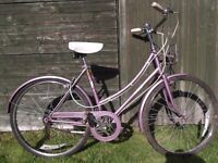 Stunning Vintage Raleigh Caprice Ladies / Girls Town / City Bike Dutch Style Loop Frame Step Through