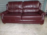 Wade Additions Burgundy Leather 3-1-1 Suite (Sofa)