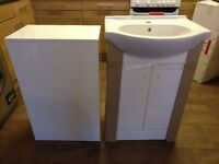 BATHROOM VANITY UNIT FURNITURE CABINET MDF MULTI OPTION SINK BASIN STORAGE