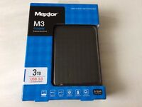3TB Maxtor M3 USB 3.0 Portable External Hard Drive