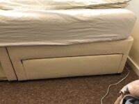 double bed, divan with 4 drawers, orthopaedic mattress