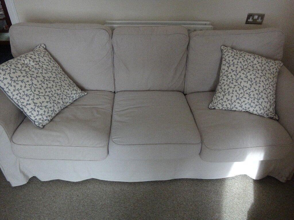 IKEA EKTORP 3-seater sofa beige £110 ono