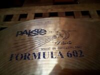 "Paiste Formula 602 Crash Ride 17"" Vintage Blue Label Rare!!"