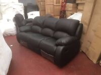 RECLINER SUITE SALE - BRAND NEW - DELIVERED - SALE NOW ON - LEATHER & FABRIC SUITES