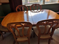 Dining room table and 6 chairs by Younger furniture