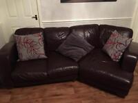 Large leather 3/4 seater brown sofa. Good used condition.