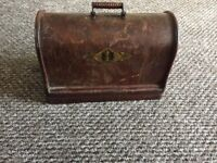 Old Singer sewing machine in mahogany carrying case
