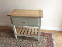 Handmade bespoke oak console table