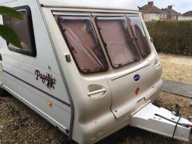 2002 Bailey Pageant Bordeaux single axle fixed bed caravan