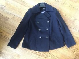 Black Next Maternity Coat Size 14- Bargain £15