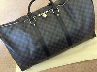 Louis Vuitton Keepall Keepall55 Bag Mens Black Luggage