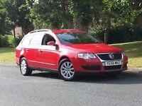 VOLKSWAGEN PASSAT 1,9 TDI ESTATE RED 56 REG 2 KEYS FULL HPI CLEAR SERVICE HISTORY DRIVES PERFECT