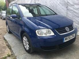 56Volkswagen Touran 1.9 TDI PD S,5dr(7 Seats)74K M,MOT30/05/19 FULL SERVICE HISTORY,CAMBELT REPLACED