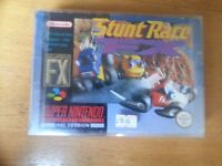 SNES Super Nintendo Stunt Race FX with protective sleeve