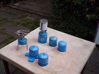 camping gas stove & lamp