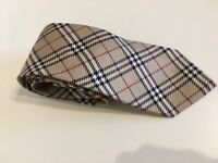 Genuine Burberry Tie in Classic Check 100% Silk