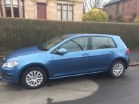 VW Golf 2013 (13) 1.6 TDI, Blue, 5 dr, Diesel, Start/stop, bluemotion, Bluetooth, £0 tax, high MPG