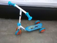 Small baby scooter, blue