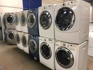STACKABLE WASHER DRYER FRONT LOAD WASHER- DRYER SET- 1 YEAR WARRANTY!!