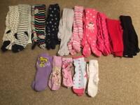 10 pairs girls winter tights & 5 pairs socks