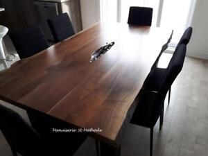 Table en bois, comptoir en bois, table en tranche darbre à vendre, selon vos dimensions