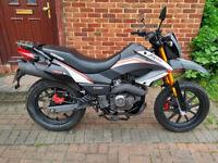 2016 Keeway TX-M 125 motorcycle, low mileage, free XL helmet, very good runner, learner legal....
