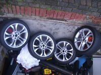 Alloy wheels fitted with Dunlop window sport tyres